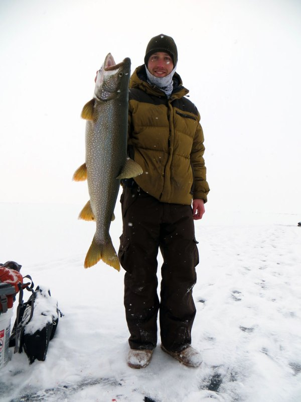 Bobbing for Lake Trout on Lake Superior