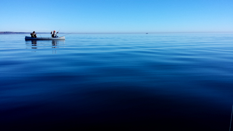 lake superior canoe fishing