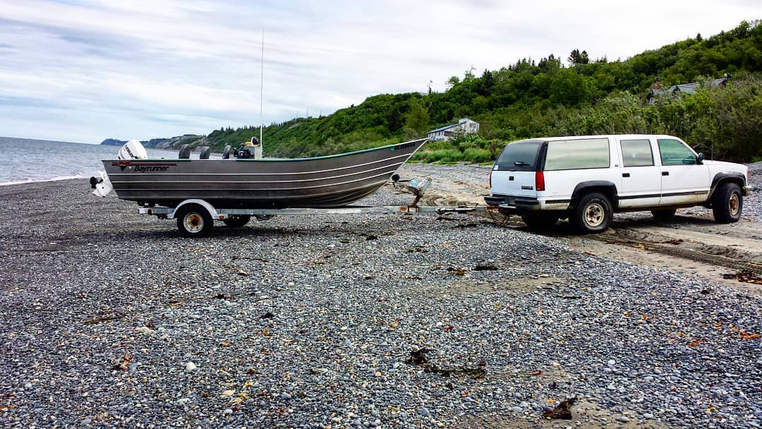 Beach launching Lower Cook Inlet