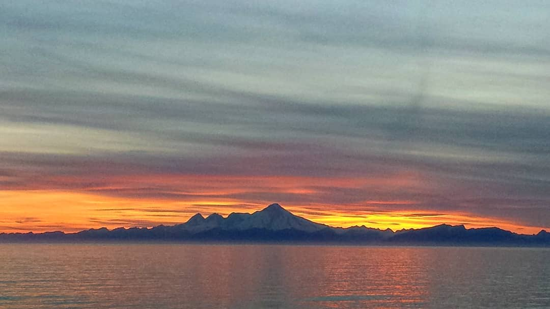 Mount Iliamna Volcano Lower Cook Inlet Alaska