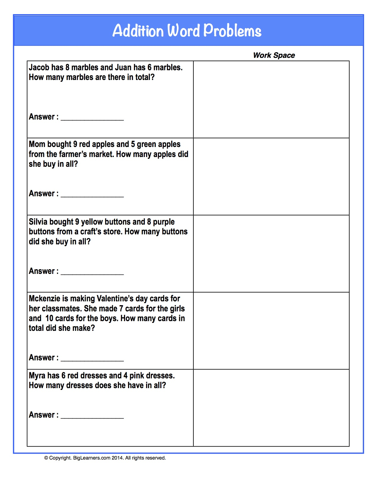 75 Math Word Problems Worksheets Grade 2 Math Problems