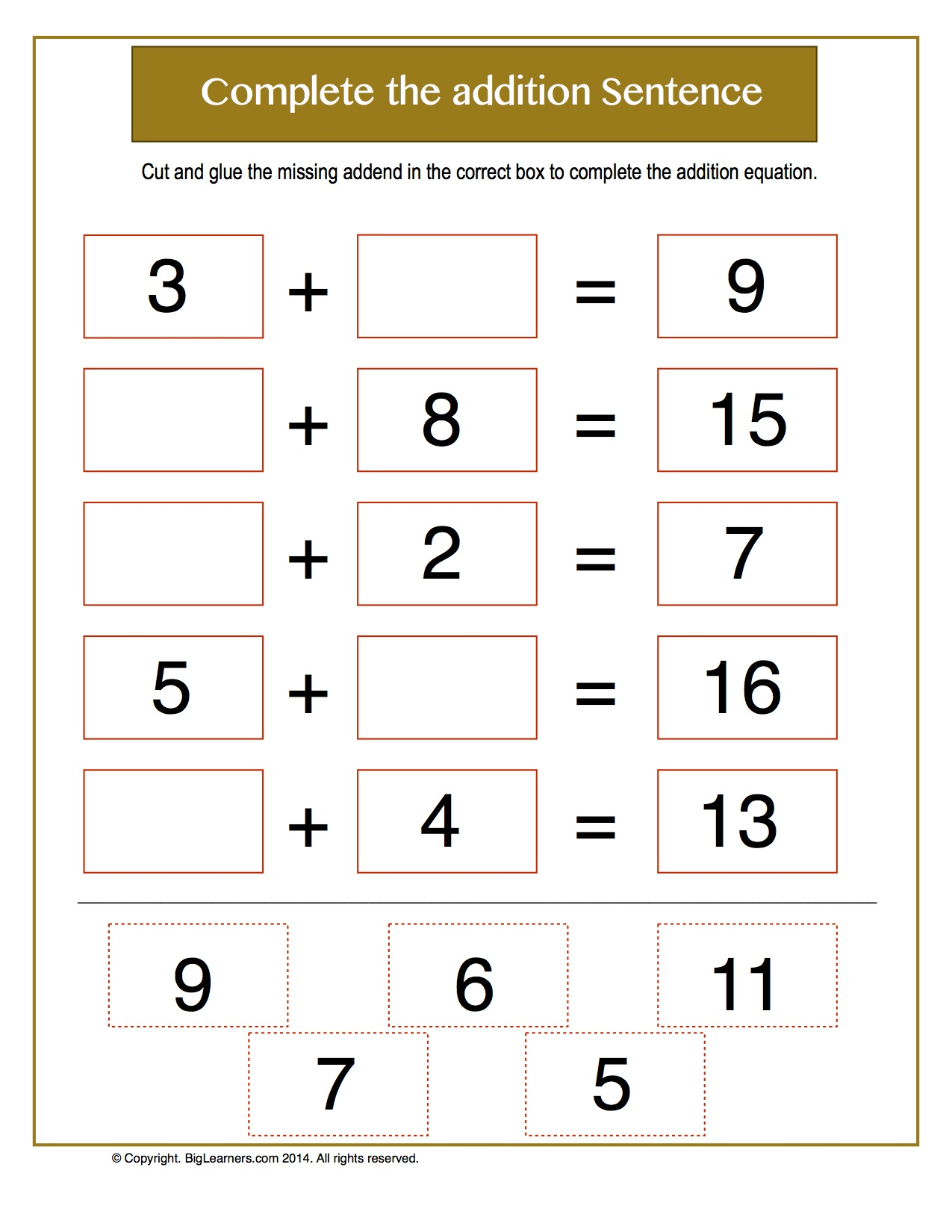 Oa Worksheets For First Grade