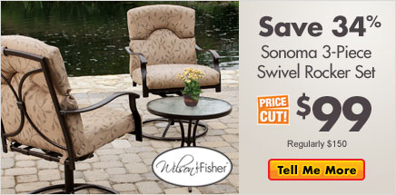 Save 34% Sonoma 3-Piece Swivel Rocker Set $99