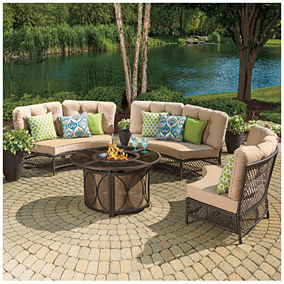 View Wilson & Fisher® Capri Resin Wicker Circular Sofa ... on Outdoor Sectional Big Lots id=69410