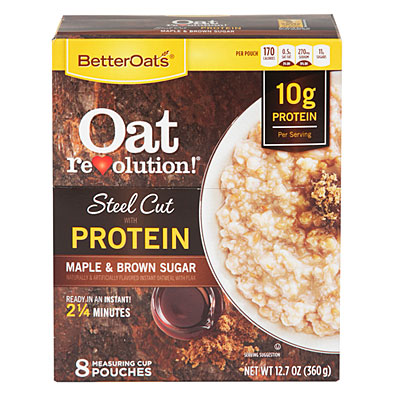 Better Oats Steel Cut with Protein Maple Brown Sugar