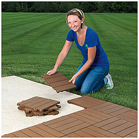 Interlocking Polywood Deck Amp Patio Tiles 10 Pack Big Lots