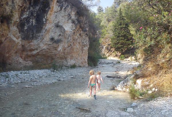 Rio Chillar start gorge