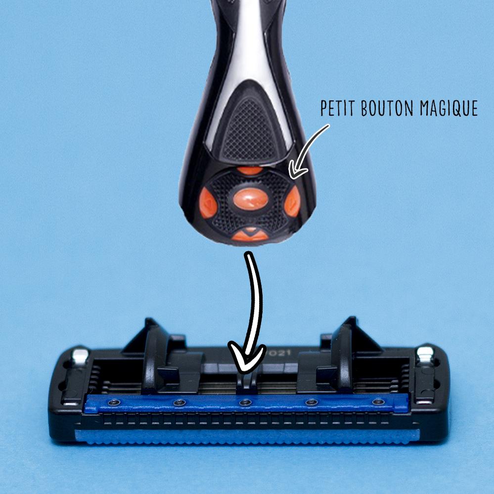 Comment mettre une recharge sur votre rasoir ?