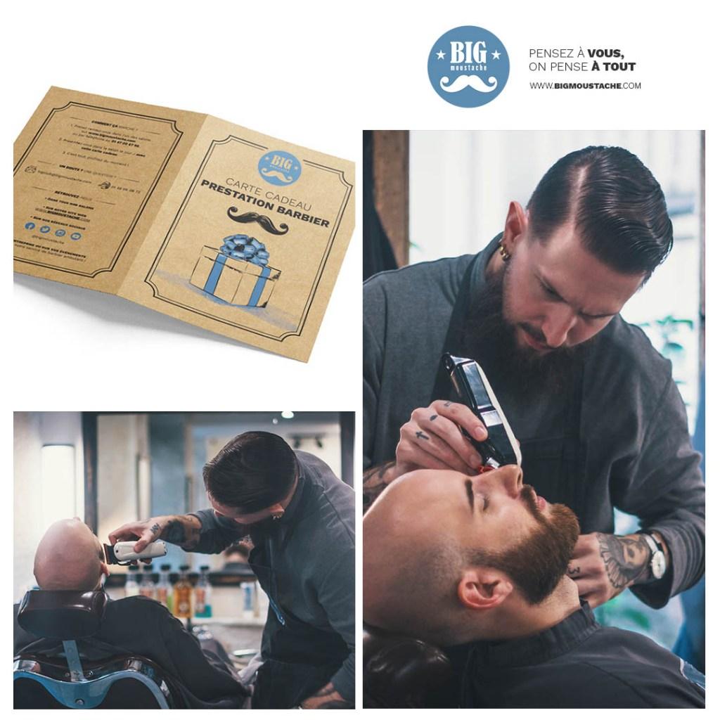 Carte cadeau prestation barbier