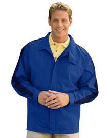 Tri Mountain Unlined Shoulder Trim Nylon Jacket