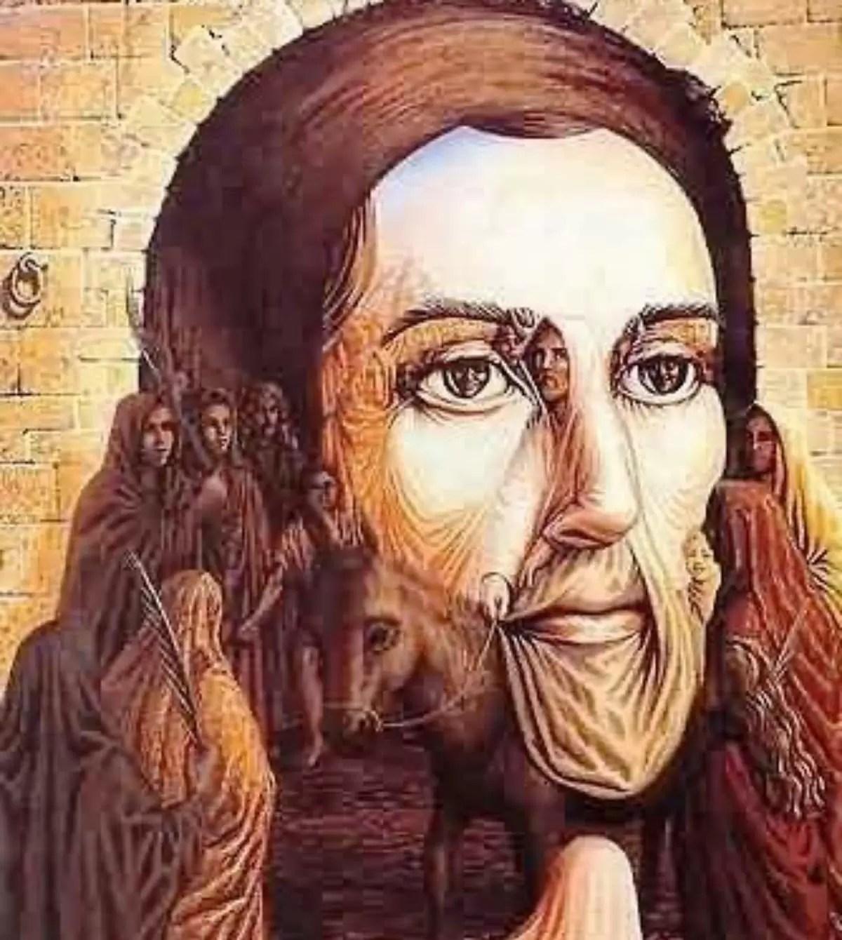 face of Jesus drawn