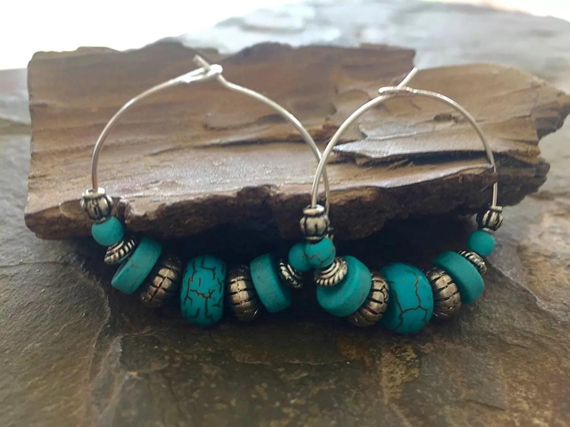 BOHO TRIBAL handmade turquoise earrings