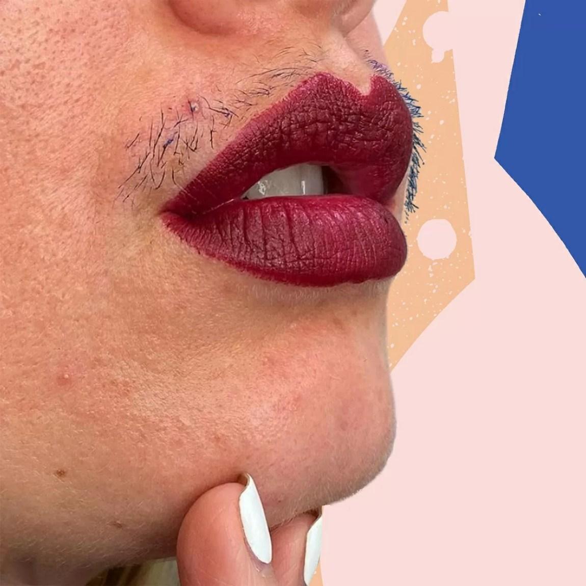 mustache and mascara