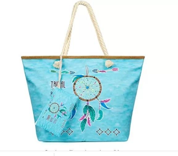 Weinsamkeit Large Canvas Beach Bag