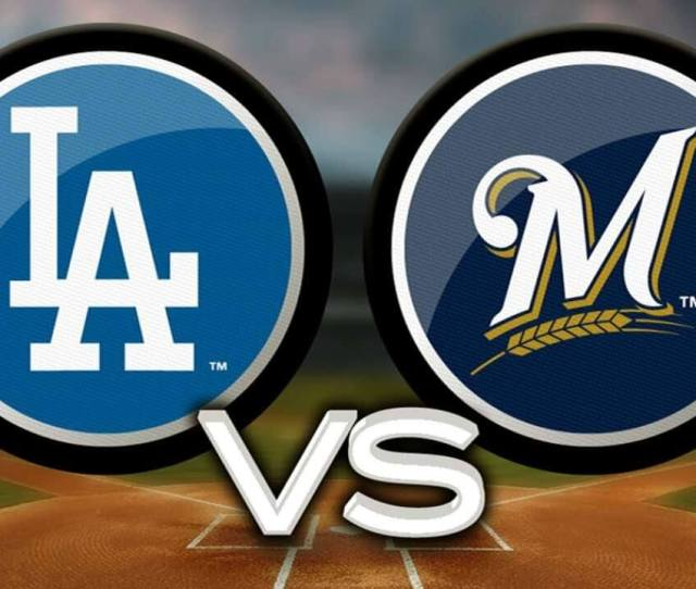 The Milwaukee Brewers And Los Angeles Dodgers