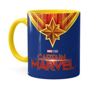 Caneca Capitã Marvel Filme V01 Amarela
