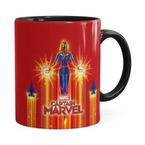 Caneca Capitã Marvel Filme V02 Preta