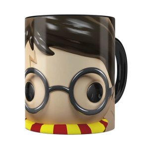 Caneca Harry Potter 3d Print Preta