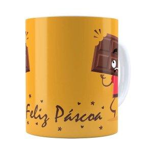 Caneca Páscoa Cara De Chocolate V01 Branca