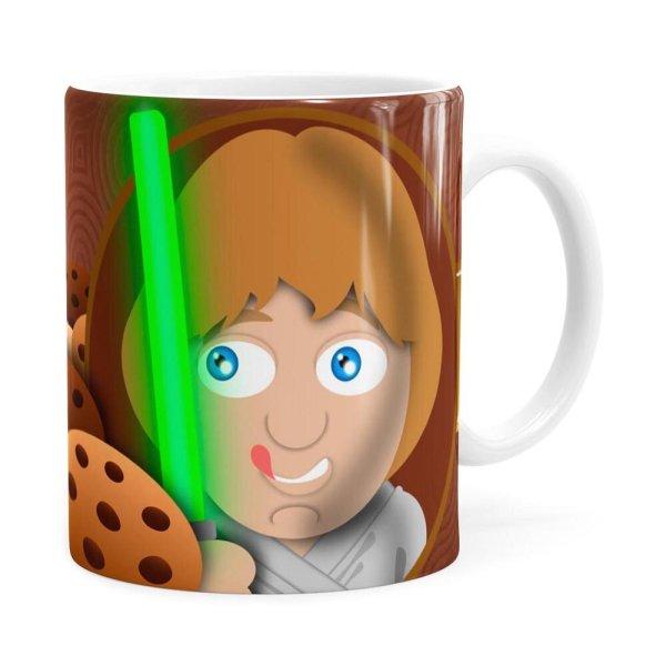Caneca Chocolate Star Wars Cookie Skywalker Branca