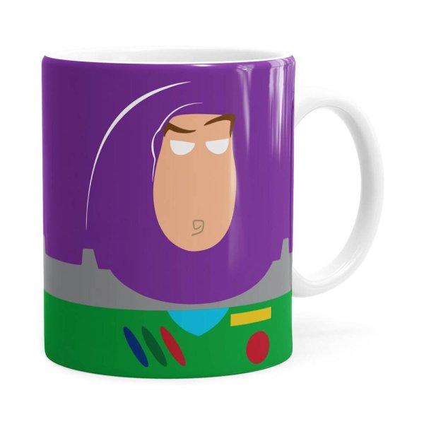 Caneca Toy Story Buzz Lightyear Minimalista V01 Branca
