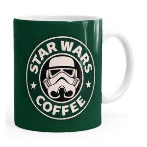 Caneca Star Wars Coffee Green Branca