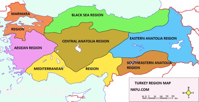 About regions in Turkey