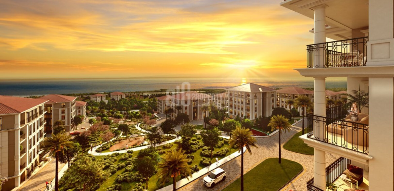 Private villas for sale with wonderful sea view and big garden in Istanbul Beylikduzu