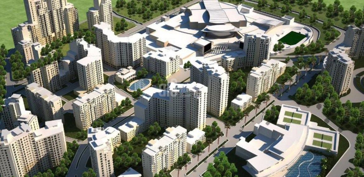 huge property has got shopping mall and lake in for sale in Istanbul Bahcesehir