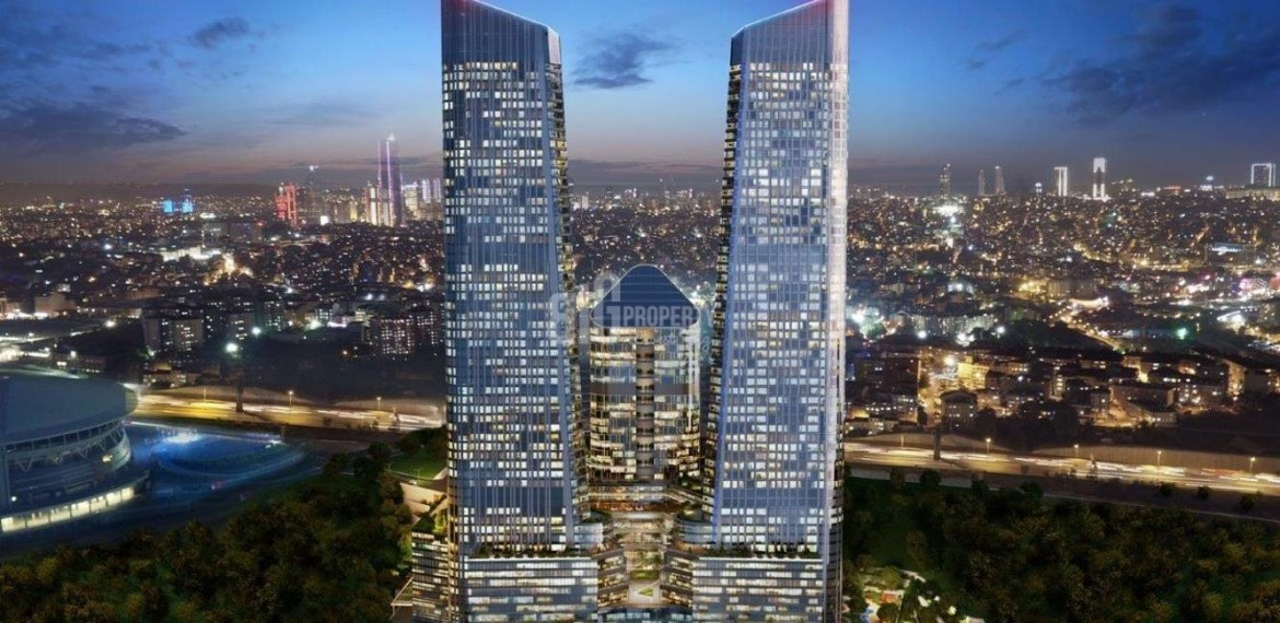 Best opportunity apartments for sale with wonderful city view near to highway in Istanbul Maslak