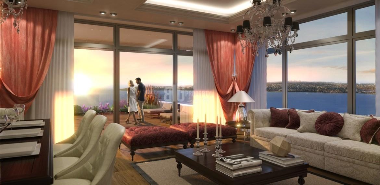 Big Terraca home with sea view for sale Buyukcekmece İstanbul Turkey