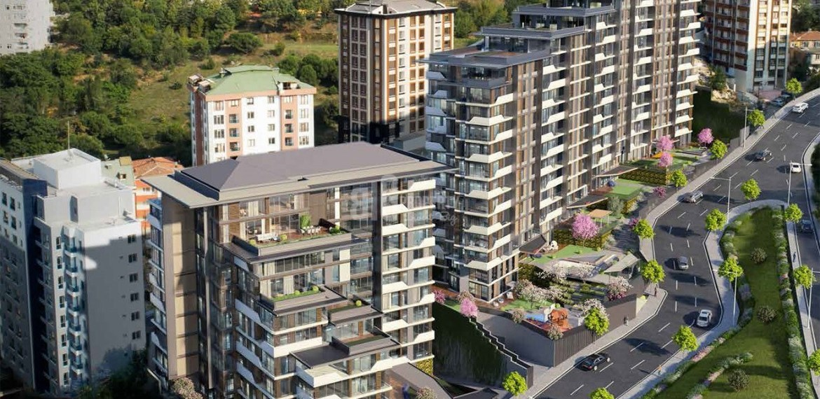 Panoramic city view residence for sale Eyup İstanbul