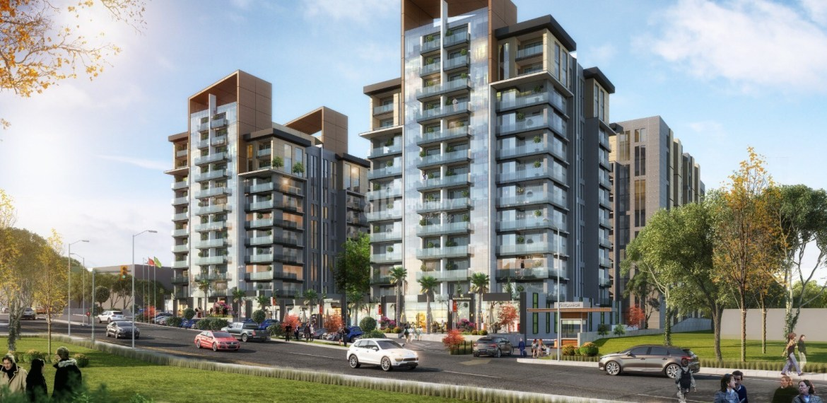 Connected metro in front of shops center apartments for sale in Bahcelievler Istanbul