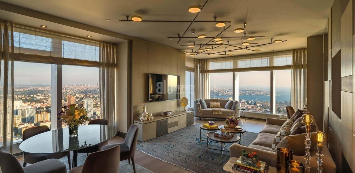 Ultra High Quality flats for sale with amazing Bosphorus sea view in Istanbul sisli Mecidiyekoy