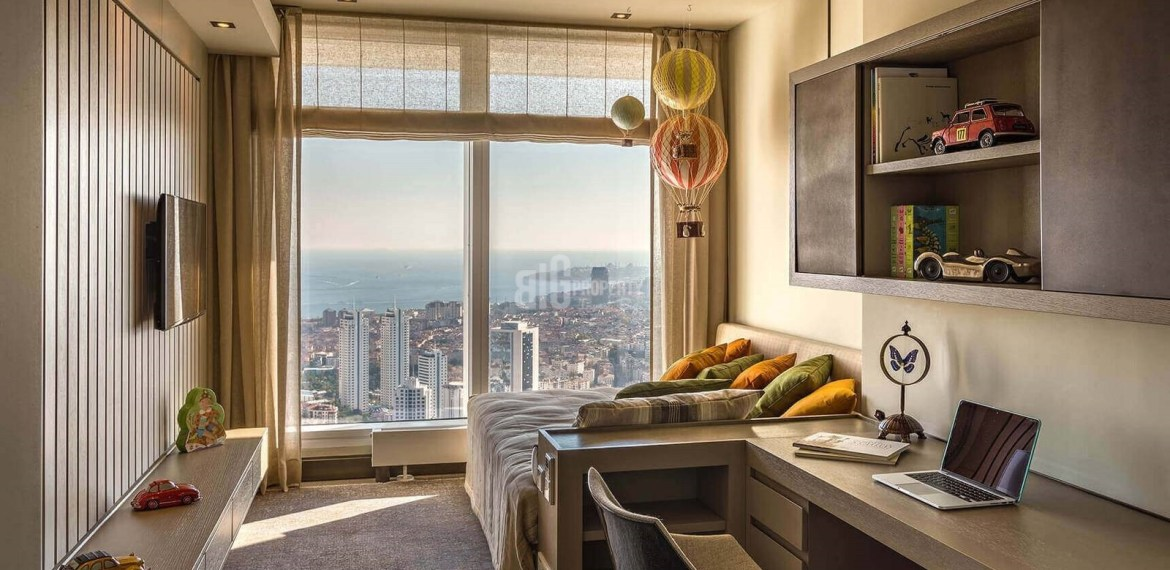 Ultra High Quality residential for sale with horizon Bosphorus sea view in Istanbul Beşiktaş
