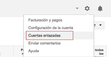cuentas enlazadas adwords