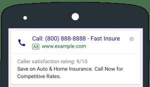 anuncios de llamada adwords