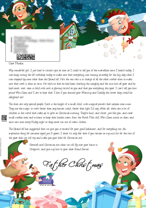 Big Santa Letter Personalised Letters From Santa Claus