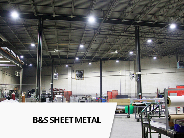 In november 2015 b s sheet metal company of hawthorne nj decided to transform their facility with led lighting fluorescent t8 tubes at 175w were