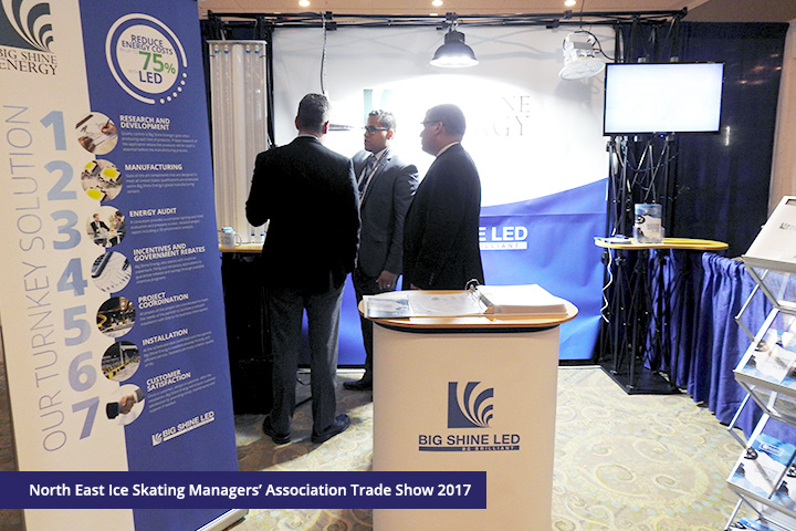 Big Shine Energy Shows Ice Skating Managers the Benefits of LED at NEISMA Trade Show