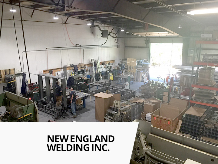 New england welding has replaced their inefficient lighting with led lighting from big shine energy using the 150w satellite hd and 13w t8 led tubes from