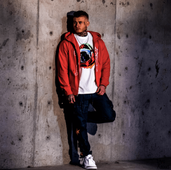 @cole_sundstrom photographed in BB Half Moon Jeans and BB Astronaut Zip-Up Hoodie. COP THIS > https://eastsidehype.com/collections/billionaire-boys-club/products/bb-half-moon-jeans