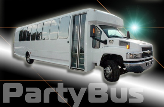 white-party-bus