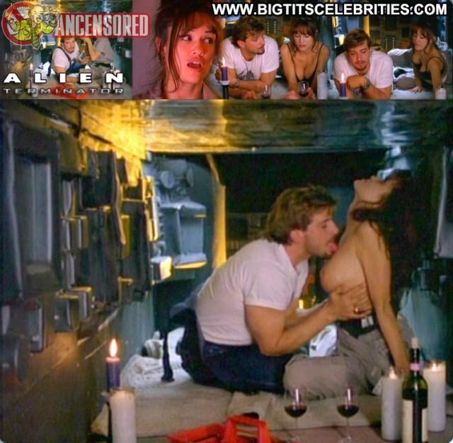 Lisa Boyle Alien Terminator Playmate Celebrity Sexy Brunette Posing