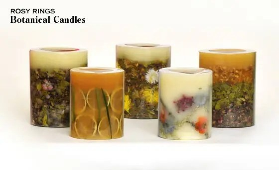Rosey ring candles