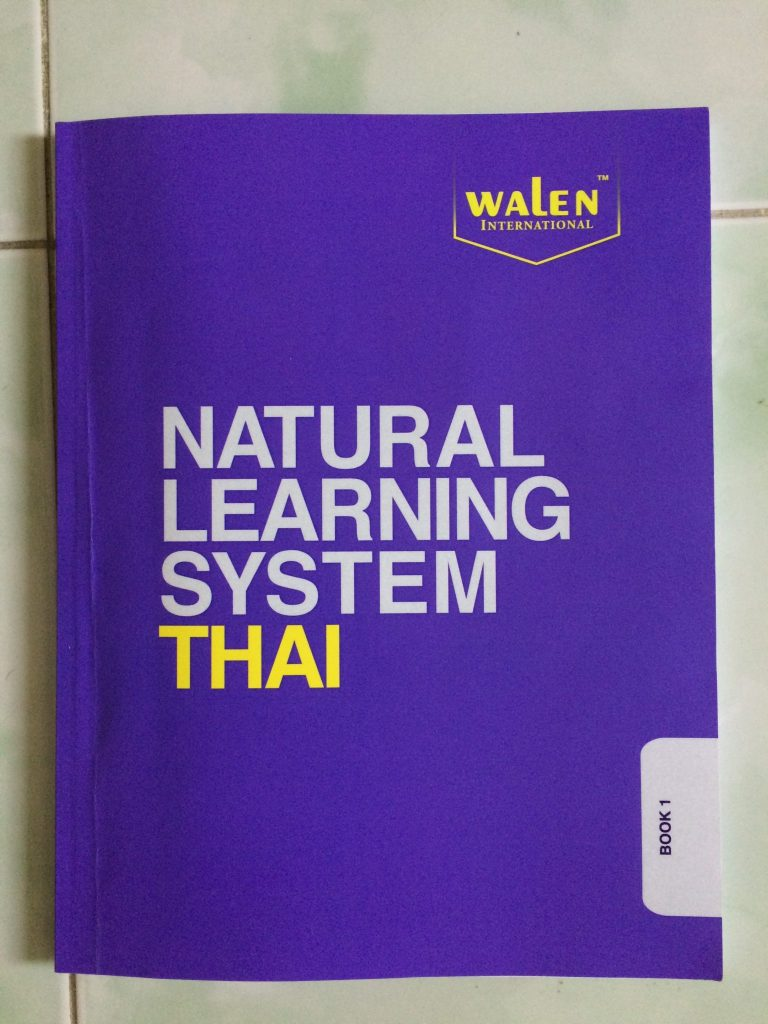 Thai language lesson learning book