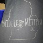 Middle Mitten (Tonal Gel Print)