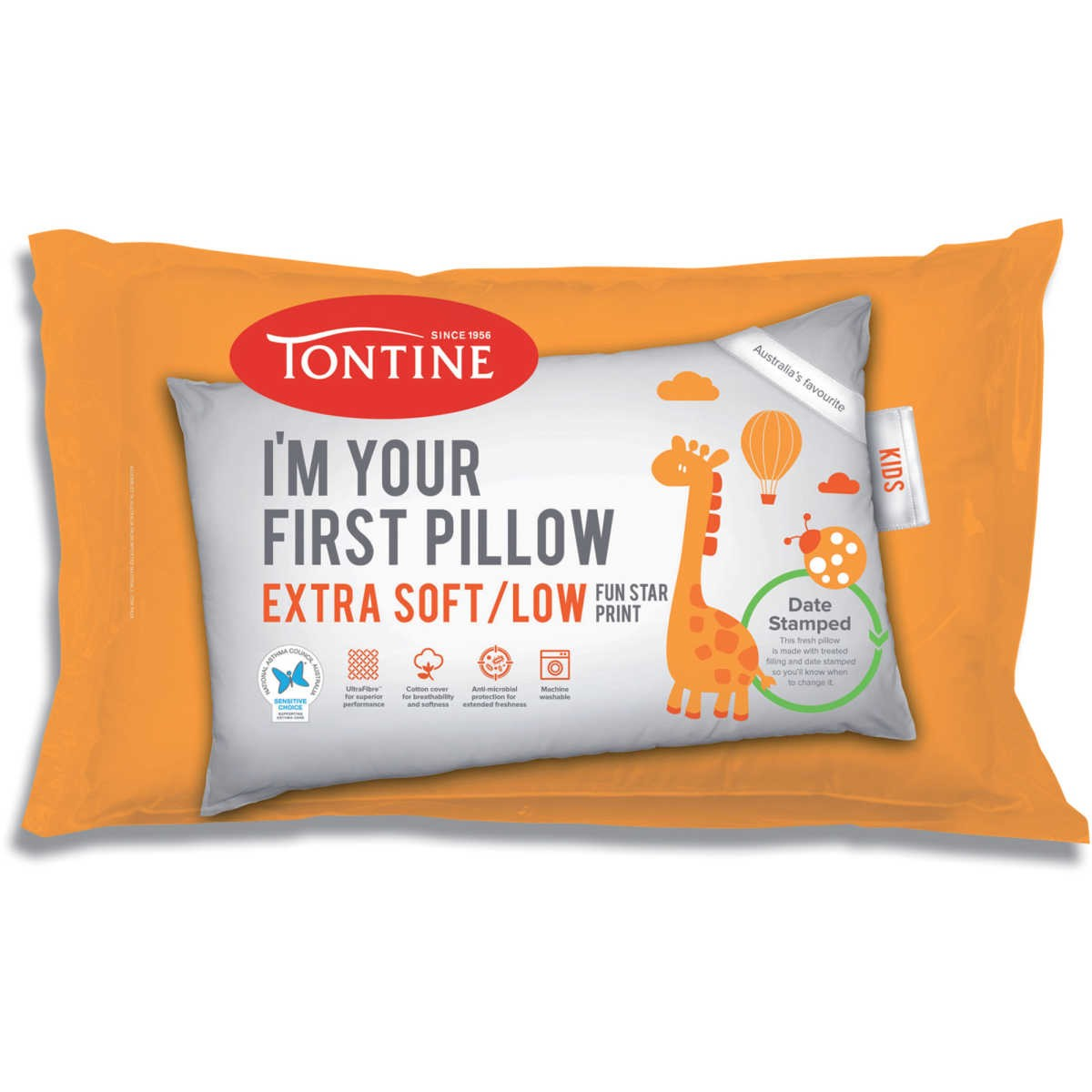 tontine first pillow extra soft low 1 pack