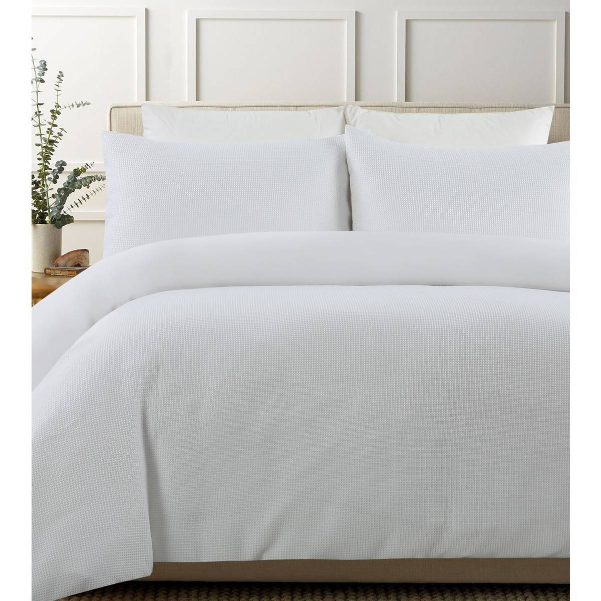 Smart Value Waffle Quilt Cover Set White Queen Big W