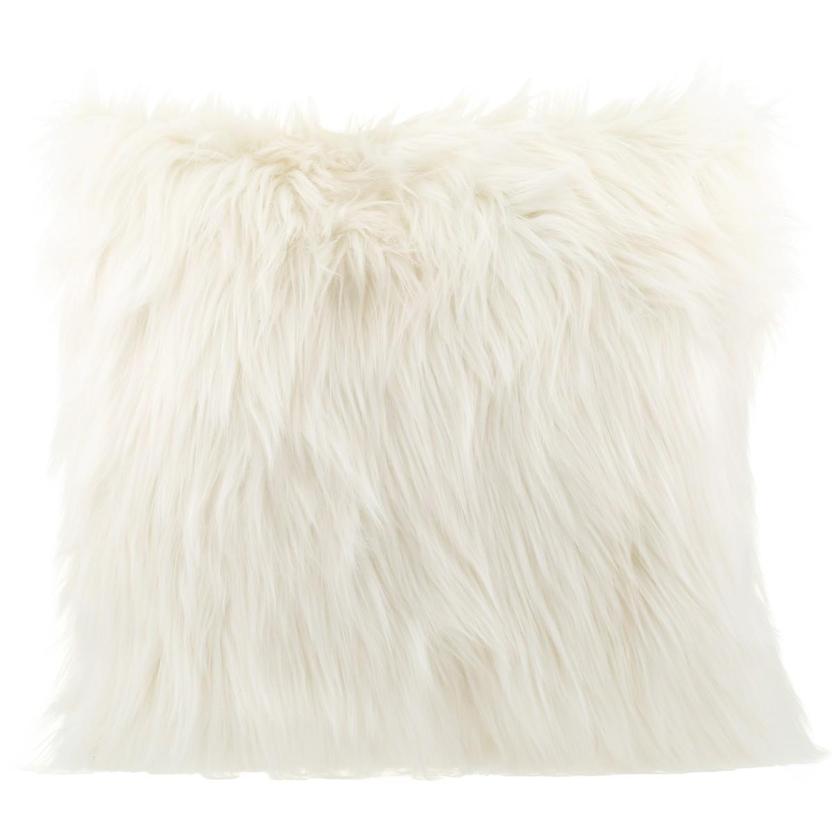 house home faux fur cushion cloud dancer